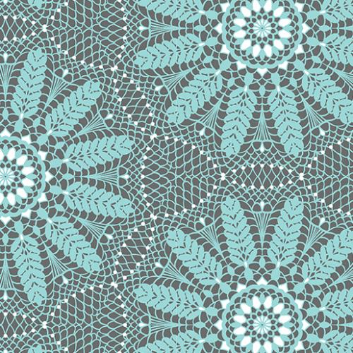 BENARTEX MEADOW DANCE CROCHET LACE AQUA 04043-05