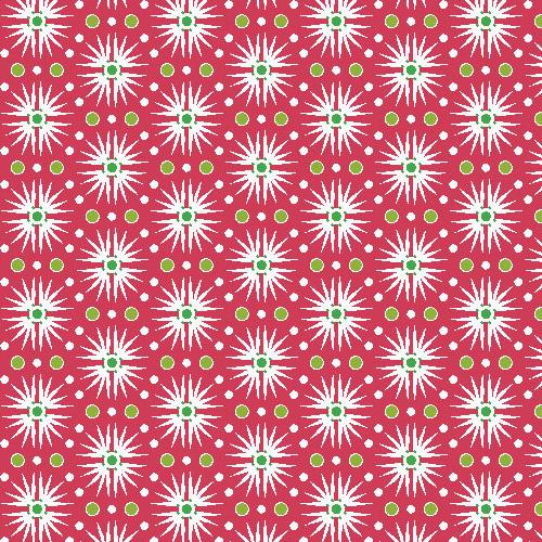 Andover Candy Cane - Itsy Bits A-7261-R ROT STAR