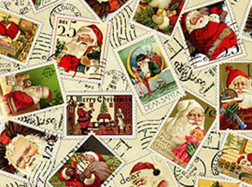 DEAR SANTA 22617E cream mit Briefmarken