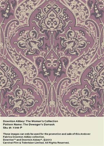 Downton Abbey THE DOWAGERS DAMASK 7318/P DOWAGER