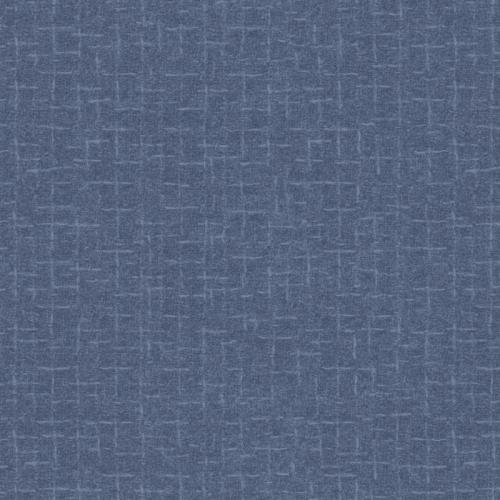 Maywood Studio Blue Crosshatch Flannel MASF18510-B