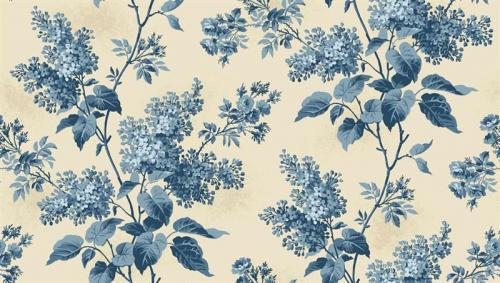 ANDOVER BLUE SKY LILACS BEACH HOUSE CREAM/BLUE 8505L