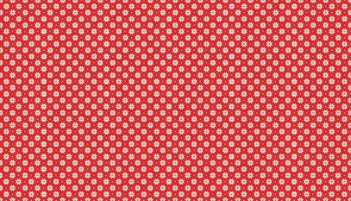 Makower Christmas Scandi Snowflake Cream on Red 1789/R6